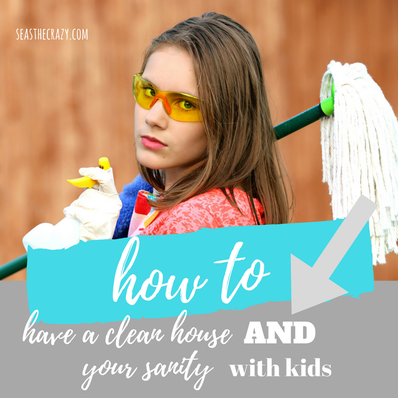 Want to have a clean house AND your sanity with kids? Here's my best advice on how to make that happen. And a FREE printable cleaning schedule!