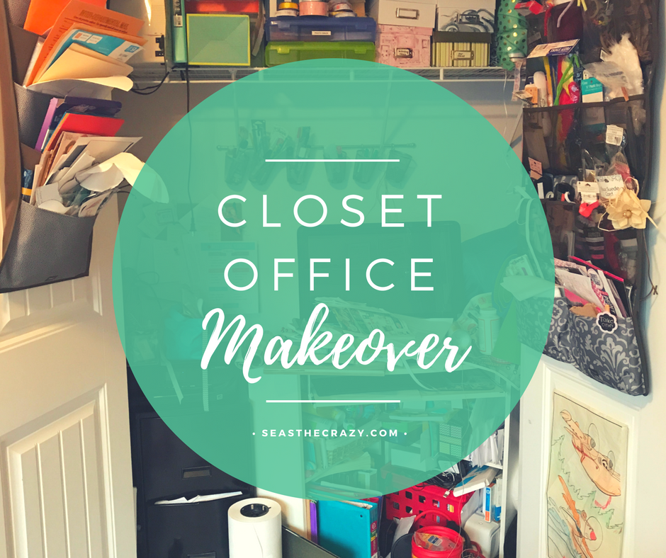 Learn how we took a closet from this to something much, MUCH more beautiful in the Closet Office Makeover post.