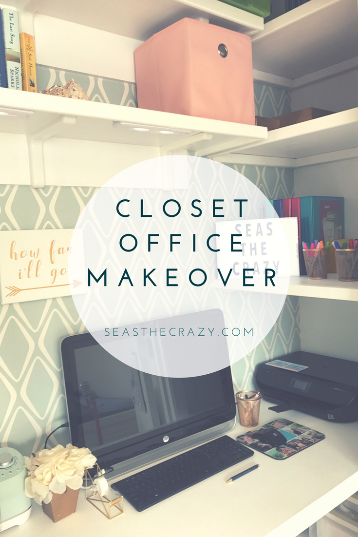 The husband's version of the closet office makeover. He takes you step by step on how we went from an overstufed closet office to this.