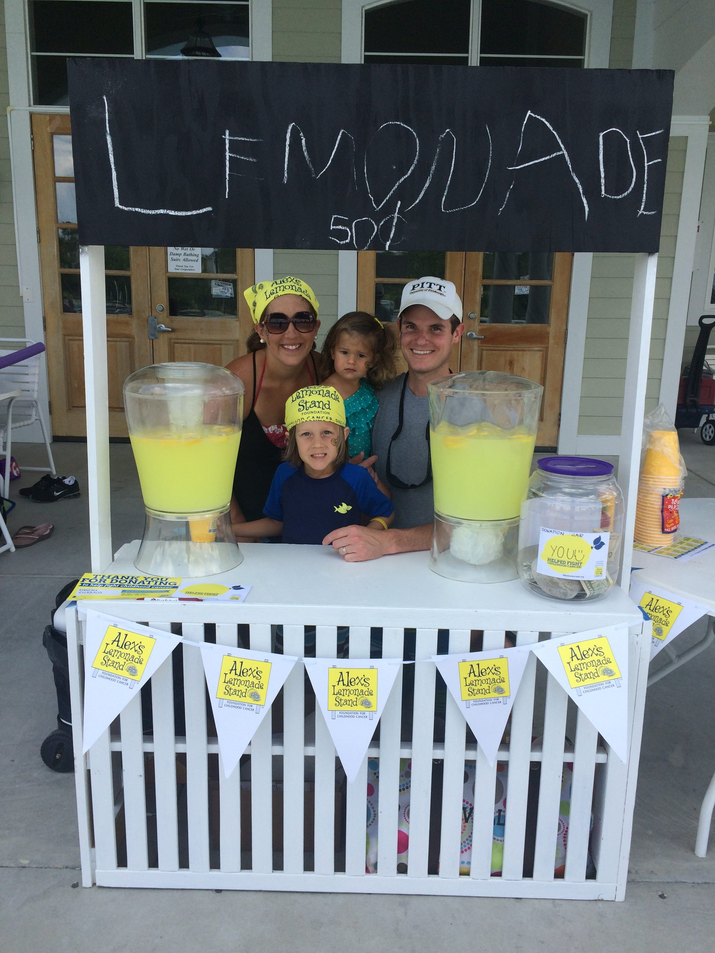 Our family at our 2016 Lemonade Stand to benefit Alex's Lemonade Stand Foundation.