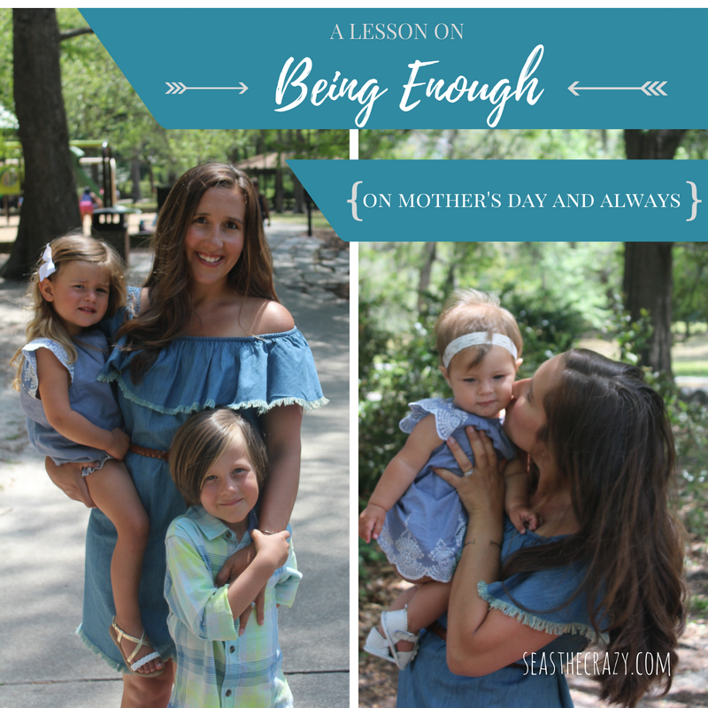How to be enough as a Mother, on Mother's Day and always.